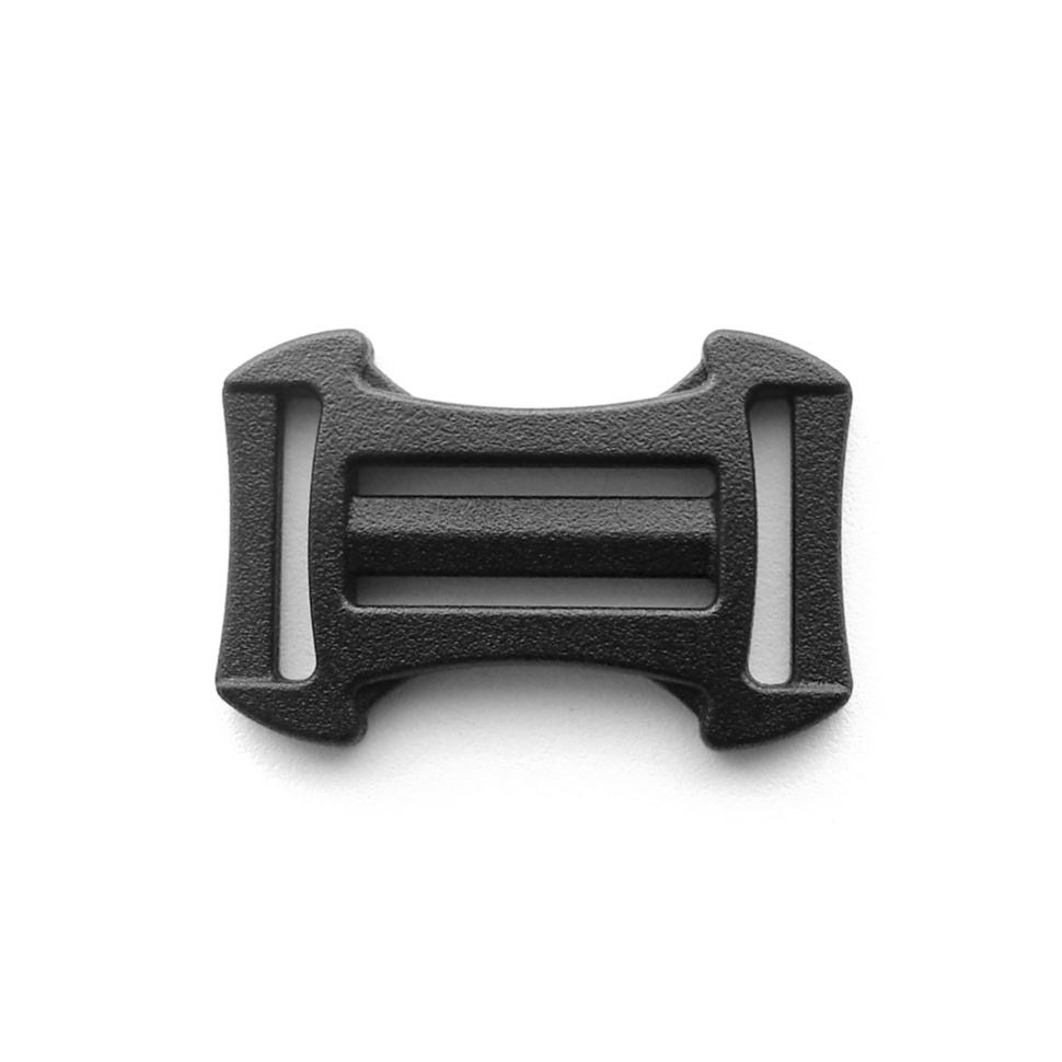 Пряжка двухщелевая 25/20 мм YKK (LA25PXB) чёрный